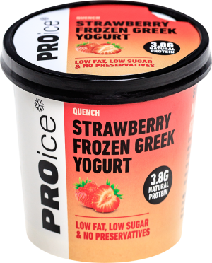 QUENCH Strawberry Natural Frozen Greek Yogurt