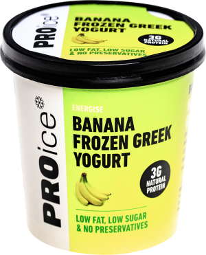 ENERGISE Banana Natural Frozen Greek Yogurt